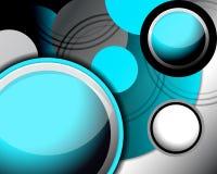 Fond bleu-clair moderne de cercle Image libre de droits