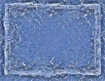 Fond bleu criqué de rectangle de glace Photos stock