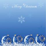 Fond bleu d'éclat de bille de Noël Photos libres de droits