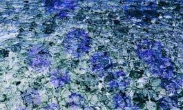 Fond bleu d'abrégé sur couleur fait avec le collage de photo image stock