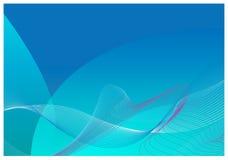 Fond bleu d'abrégé sur descripteur de qualité Image stock