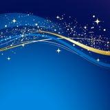 Fond bleu d'abrégé sur l'hiver illustration de vecteur