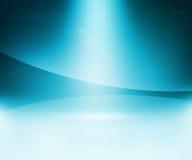 Fond bleu d'abrégé sur lueur Images stock