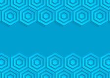 Fond bleu d'abrégé sur papier d'hexagone illustration libre de droits