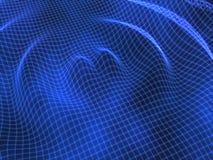Fond bleu d'abrégé sur réseau d'ondulation Photos stock
