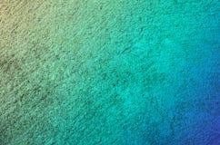 Fond bleu d'abrégé sur surface en béton de ciment de couleur verte Photo stock
