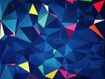 Fond bleu d'abrégé sur triangle Image stock