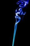 Fond bleu d'abrégé sur fumée Images libres de droits