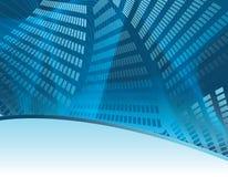 Fond bleu d'affaires sur l'horizontal Image libre de droits