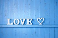 Fond bleu d'amour Image libre de droits