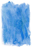 Fond bleu d'aquarelle Photos stock