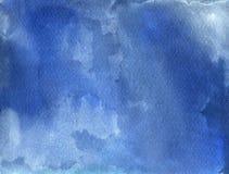 Fond bleu d'aquarelle Photo libre de droits