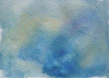 Fond bleu d'aquarelle Image libre de droits