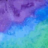 Fond bleu d'aquarelle Photographie stock libre de droits