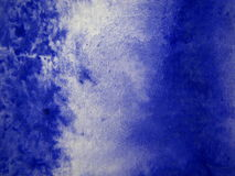 Fond bleu d'aquarelle Images stock