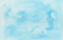 Fond bleu d'aquarelle, texture de papier Images libres de droits
