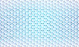 Fond bleu d'hexagone, résumé moderne, fond géométrique futuriste de vecteur