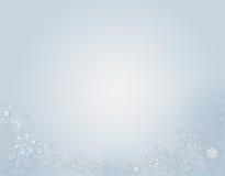 Fond bleu d'hiver avec des flocons de neige illustration stock