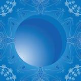 Fond bleu d'hiver de vecteur avec des flocons de neige Image stock