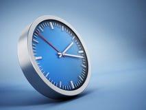 Fond bleu d'horloge Image stock