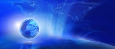 Fond bleu d'Internet Photo stock