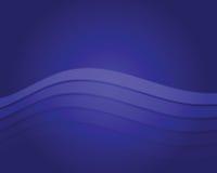 Fond bleu d'onde Images stock