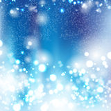 Fond bleu de bokeh Images stock