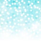 Fond bleu de bokeh Photo stock
