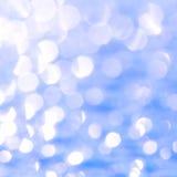 Fond bleu de bokeh Image stock