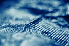 Fond bleu de bokeh Photos stock