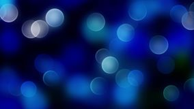 Fond bleu de bokeh créé par les lampes au néon Photo stock
