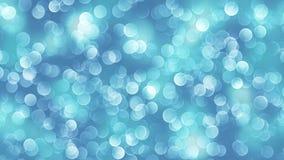 Fond bleu de bokeh créé par les lampes au néon Photos stock