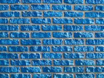 Fond bleu de brickwall. Photo libre de droits