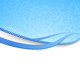 Fond bleu de bruissement - concept moderne de vague illustration stock