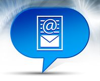 Fond bleu de bulle d'icône de page de document de bulletin d'information illustration de vecteur