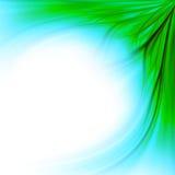 Fond bleu de cadre d'herbe verte Photo stock