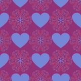 Fond bleu de coeur Image libre de droits