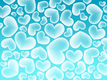 Fond bleu de coeur d'amour de couleur Photos libres de droits