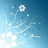 Fond bleu de conception florale Photo libre de droits
