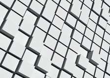 Fond bleu de cubes, 3d rendu, style de bacground, tons légers photo stock