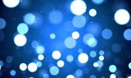 Fond bleu de fête de bokeh Photographie stock libre de droits