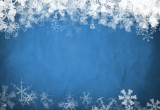 Fond bleu de flocon de neige Images stock