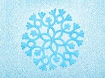 Fond bleu de flocon de neige Photo stock