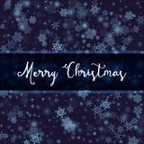 Fond bleu de flocon de neige Image libre de droits