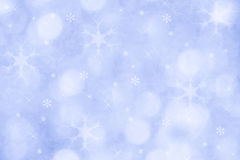 Fond bleu de flocon de neige d'hiver pour Noël Photographie stock libre de droits