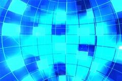 Fond bleu de globe Image libre de droits
