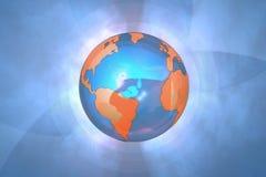 Fond bleu de globe Photographie stock