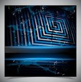 Fond bleu de grunge d'éraflure Images libres de droits
