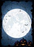Fond bleu de Halloween Photographie stock