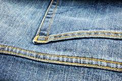 Fond bleu de jeans de denim Photographie stock libre de droits